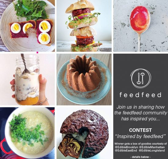 collage of food photos with feedfeed logo