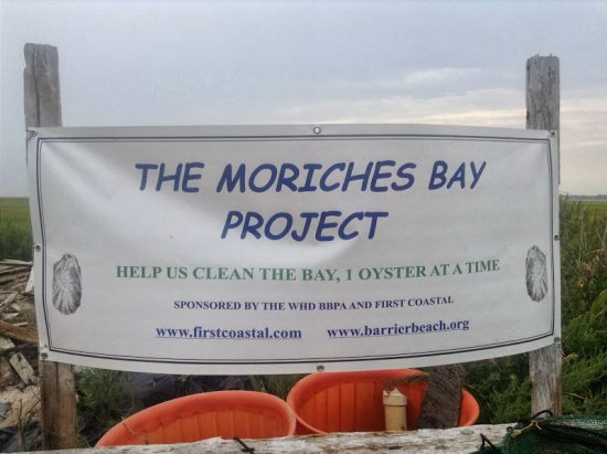 moriches bay project sign