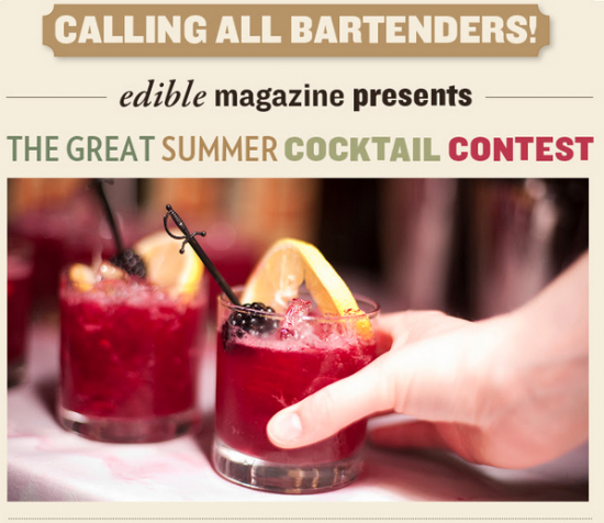 ad for Edible summer cocktail contest 2014