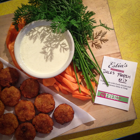 Todd Jacobs of Fresh brought stunningly simple and simply delicious carrot fritters.