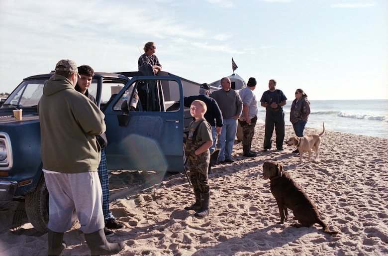 The actual crew responsible for the net, dory and vehicles is small, however a crowd often gathers on days they go fishing at the ocean. Retired fishermen, family and friends often stop by to see how the haul is going that season or to lend a hand. (2010)