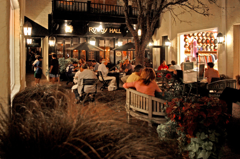 Rowdy Hall's bar is cozy for a drink and there's also seating outside on warm September evenings. Courtesy of Long Island Restaurant News.