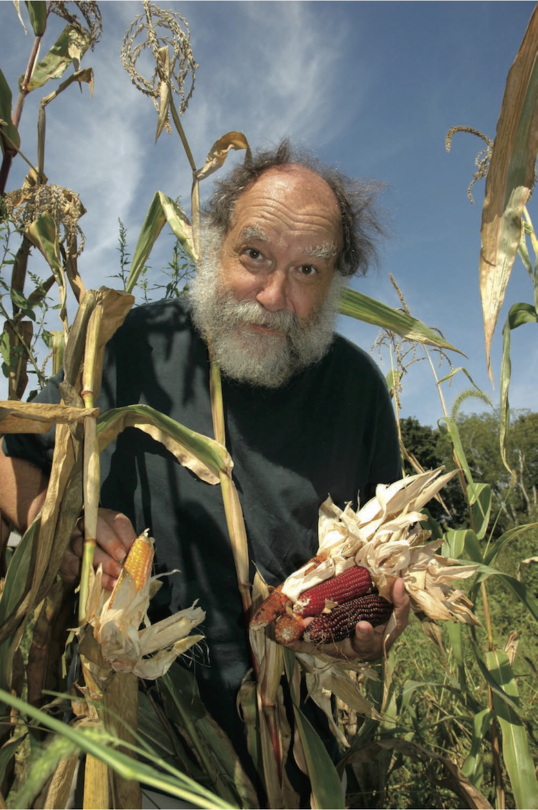 Ken Ettlinger, with his edible-ornamental corns, is one of the nation's leading seed breeders.