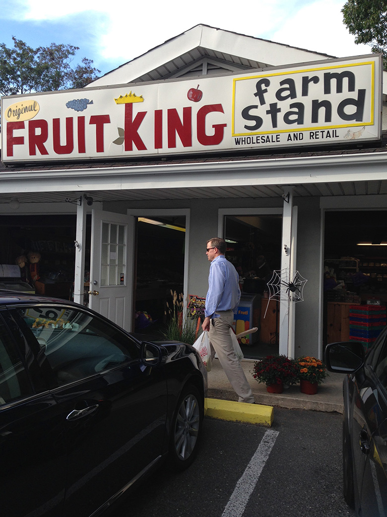 Olish's Fruit King Farm Stand in Westhampton Beach.