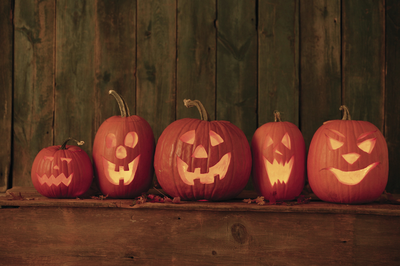 Jack-o-lanterns --- Image by © Royalty-Free/Corbis