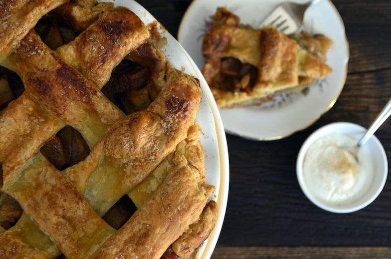 apple pie lattice, all butter crust