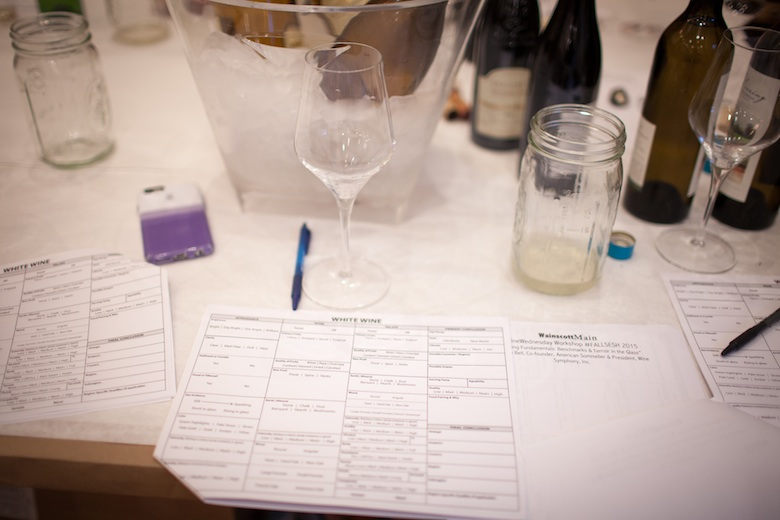 Andrew Bell gives a wine tasting workshop at Wainscott Wine.