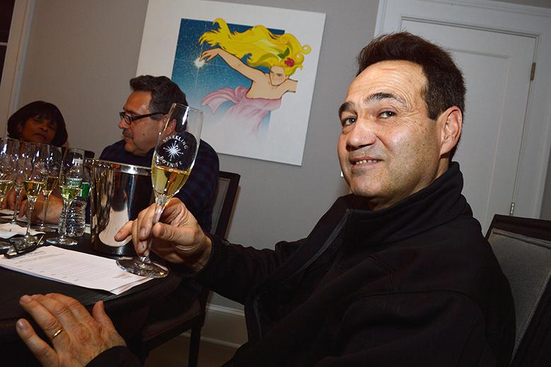 Winemaker Gilles Martin hosts a Sparkling Pointe wine tasting