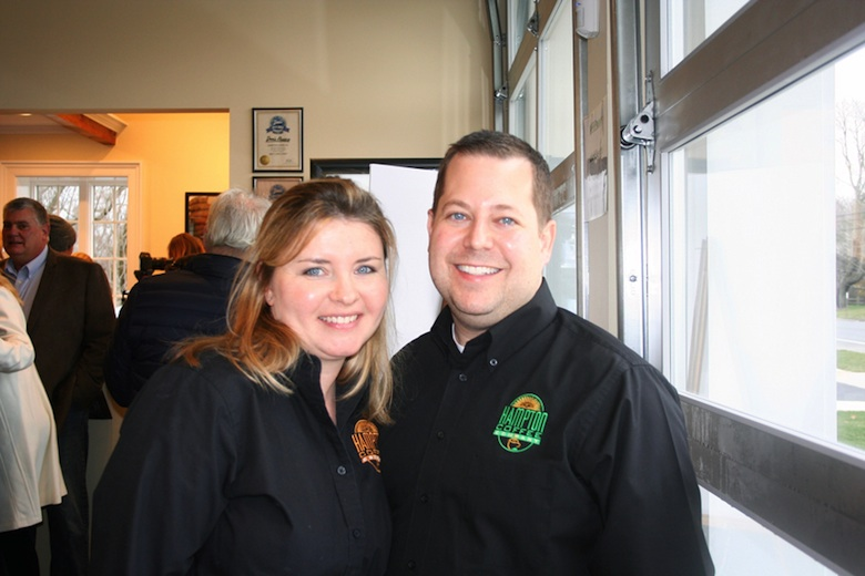 Jason and Theresa Belkin, owners of the Aquebogue Hampton Coffee Company location.