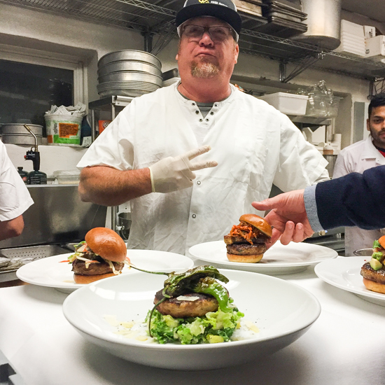 Chef Sam McCleland of Bell _ Anchor in Sag Harbor which is trying four different versions of the Montauk fish burger