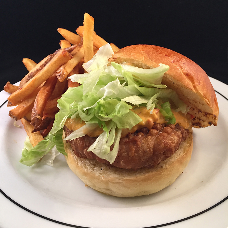 Rowdy Hall produced a Filet-o-Fish-esque version that was fried and topped with American cheese and crispy onions