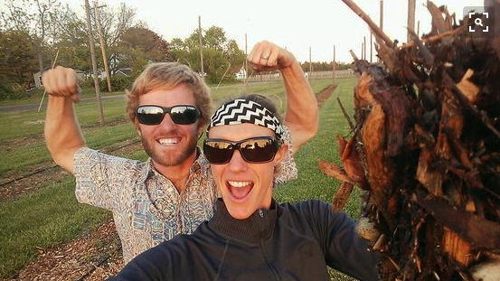 Jaclyn Van Bourgondien and Andrew Tralka of Farm to Pint.
