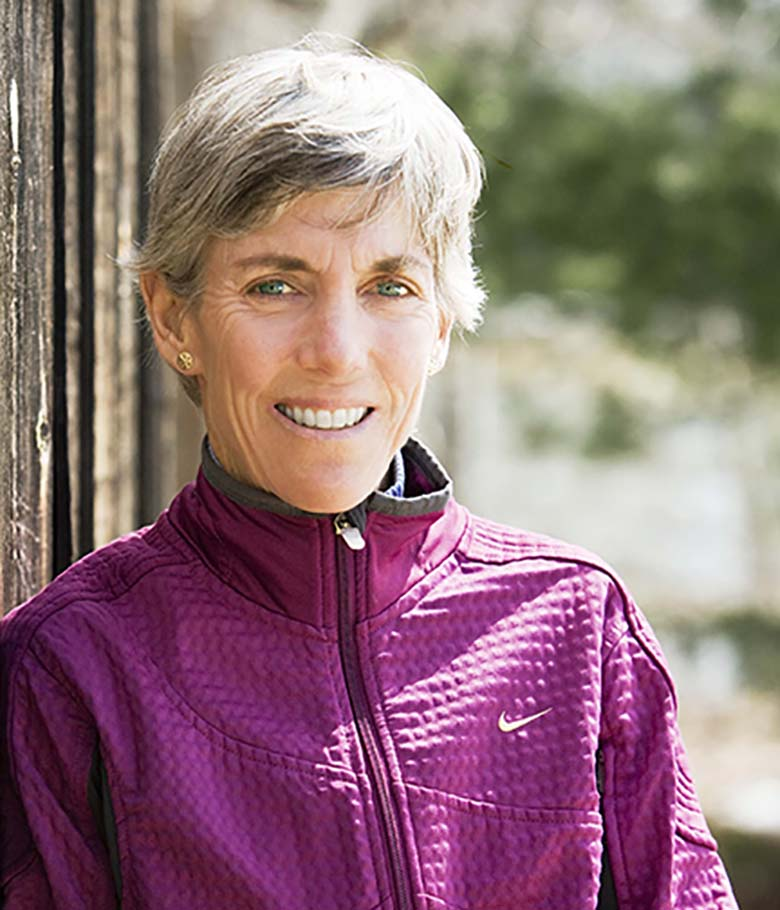 Joan Benoit Samuelson, 1984 Olympic marathon champion, at her home