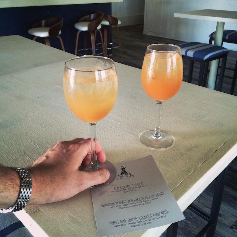 Black Berry 'Mimosas' — made with Herradura Blanco, orange juice, and Chambord