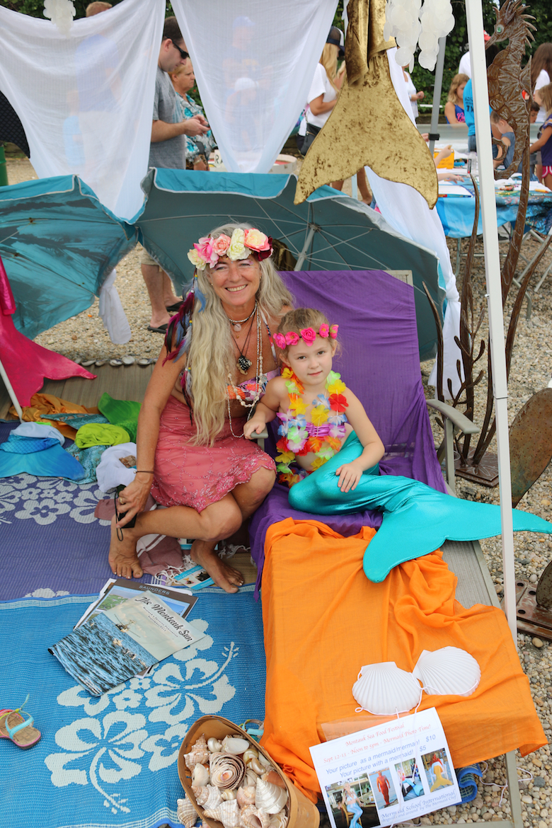 Even mermaids are welcome at the Montauk Seafood Festival.