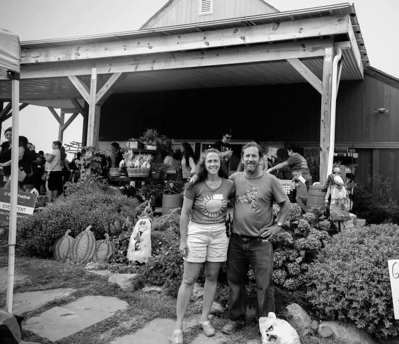 "Farmer Chris and ""Garlic Queen"" Eve, Founders of the LI Garlic Fest and Garden of Eve Organic Farm"