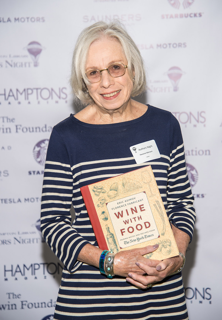 Author Florence Fabricant at last year's Authors Night for the East Hampton Library.  (Photo by Mark Sagliocco/Getty Images for East Hampton Library)