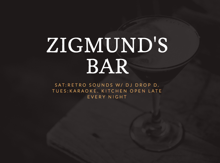 Live music is part of the Zigmund's tradition, as it has been at this roadside since the Wild Rose and before.