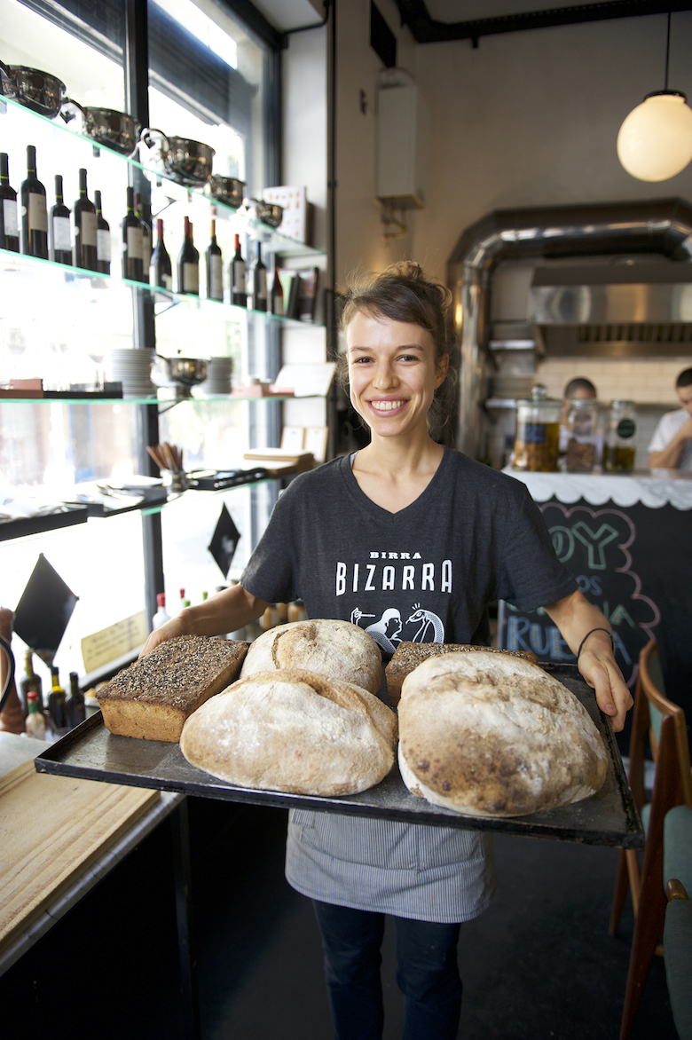 Jacinto cafe in Montevideo, UY bakes homemade bread daily.