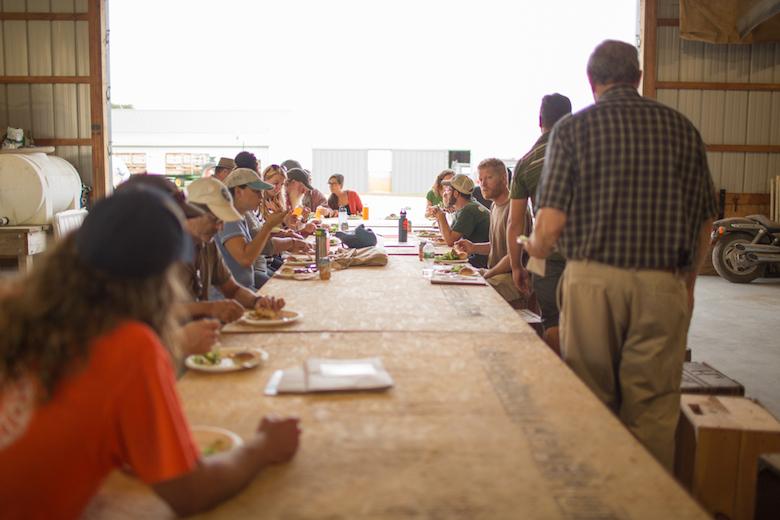 Dining East End farmers on Halsey Farm.
