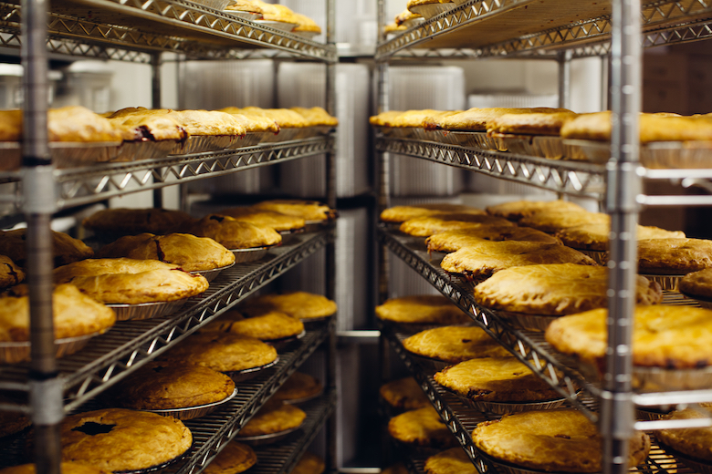 Pies as far as the eye can see at Briermere Farm.