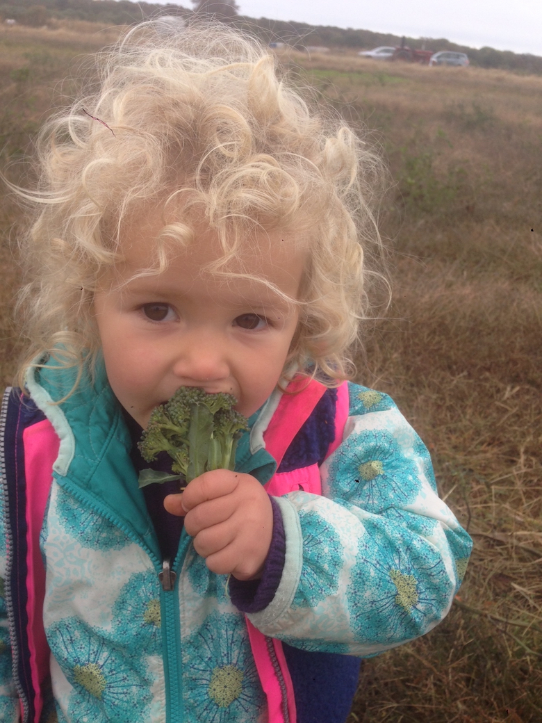 Emily Weitz's daughter, doing her part to fight food waste.