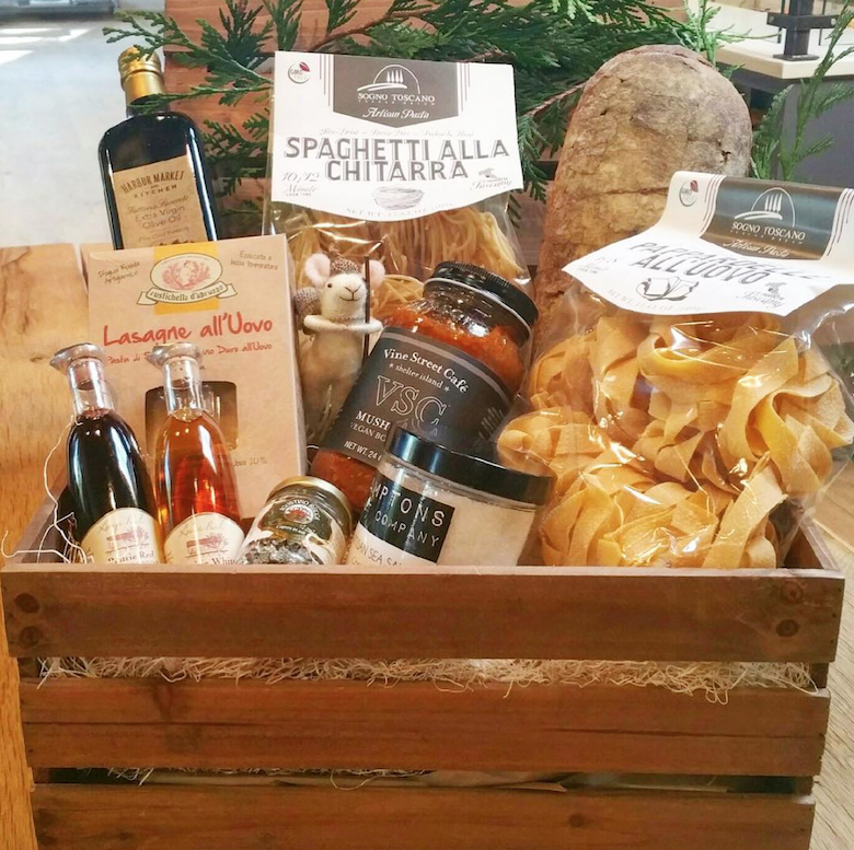 Who needs the North Pole when Harbor Market in Sag Harbor offers these gorgeous gift baskets?